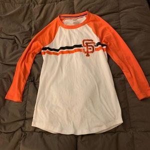 PINK San Francisco Giants 3/4 Sleeve Baseball Tee